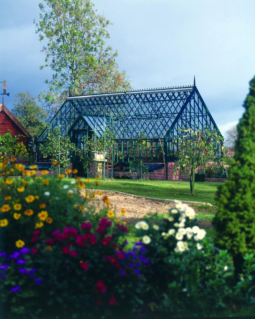 Warnford Greenhouse im Farbton Juniper.