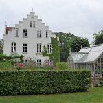 Seitenansicht Anlehngewächshaus Rittergut Streu, Rügen.