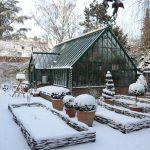 Das Warnford Gewächshaus im winterlichen Englischen Garten Köln.