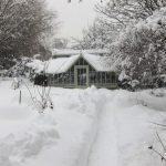 Alpines Gewächshaus - die Schneelasten fließen in die Statik mit ein.
