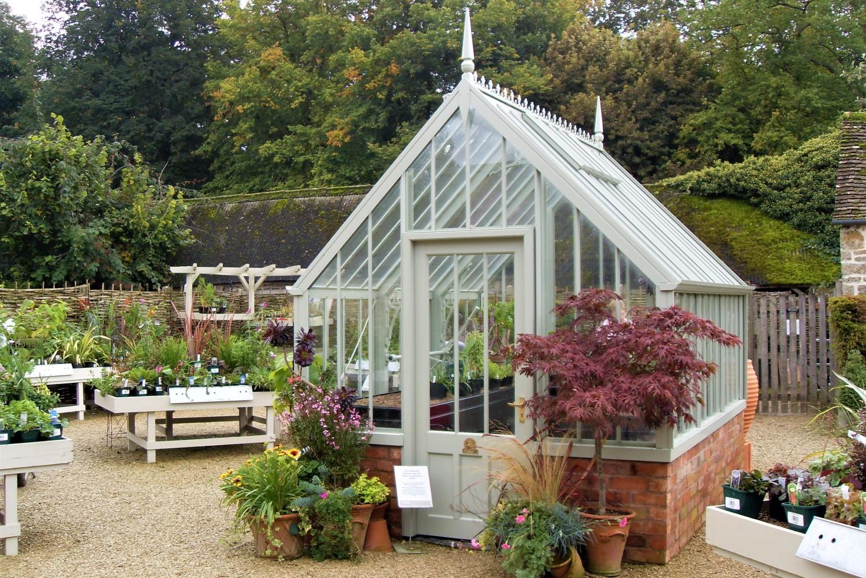 Das Capel Gewächshaus im Hidcote Manor Garden.
