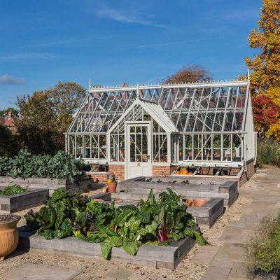 Im Gewächshaus in guter Erde gärtnern