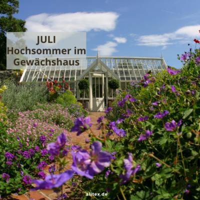 Hello Juli – Hochsommer im Gewächshaus